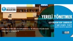 """""""Yereli Yönetmek"""" Seminer Programı 27 Mart'ta Başlıyor"""